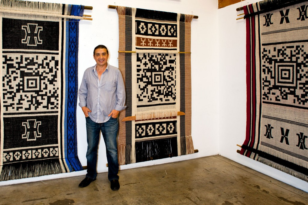 Photo-1Guillermo-Bert-with-his-encoded-textiles-1024x682